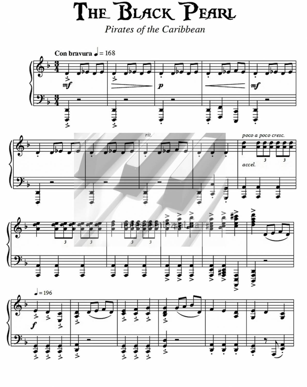 Скачать мелодию пираты карибского моря на пианино